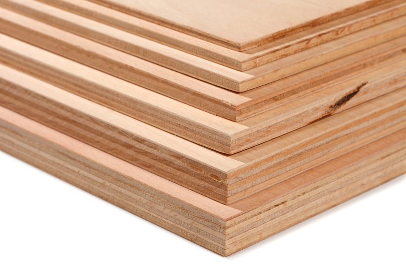 Stack of plywood sheets